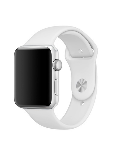 Microsonic Apple Watch 42mm Silikon Kordon Beyaz Beyaz